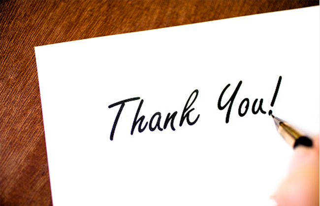 A Thank You Note. - Assured Settlement Services